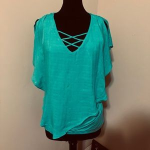 AGN green blouse